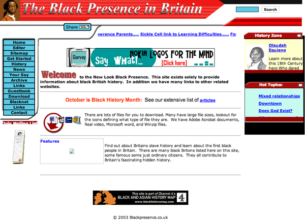 The Black Presence in Britain 2003