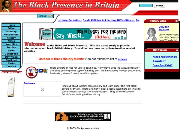 The Black Presence in Britain 2003
