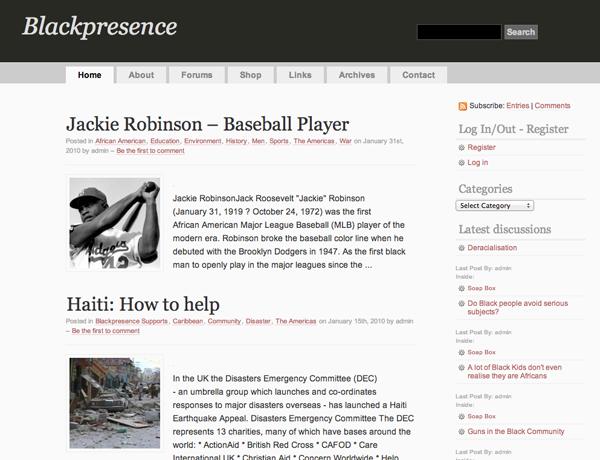 Second WordPress version