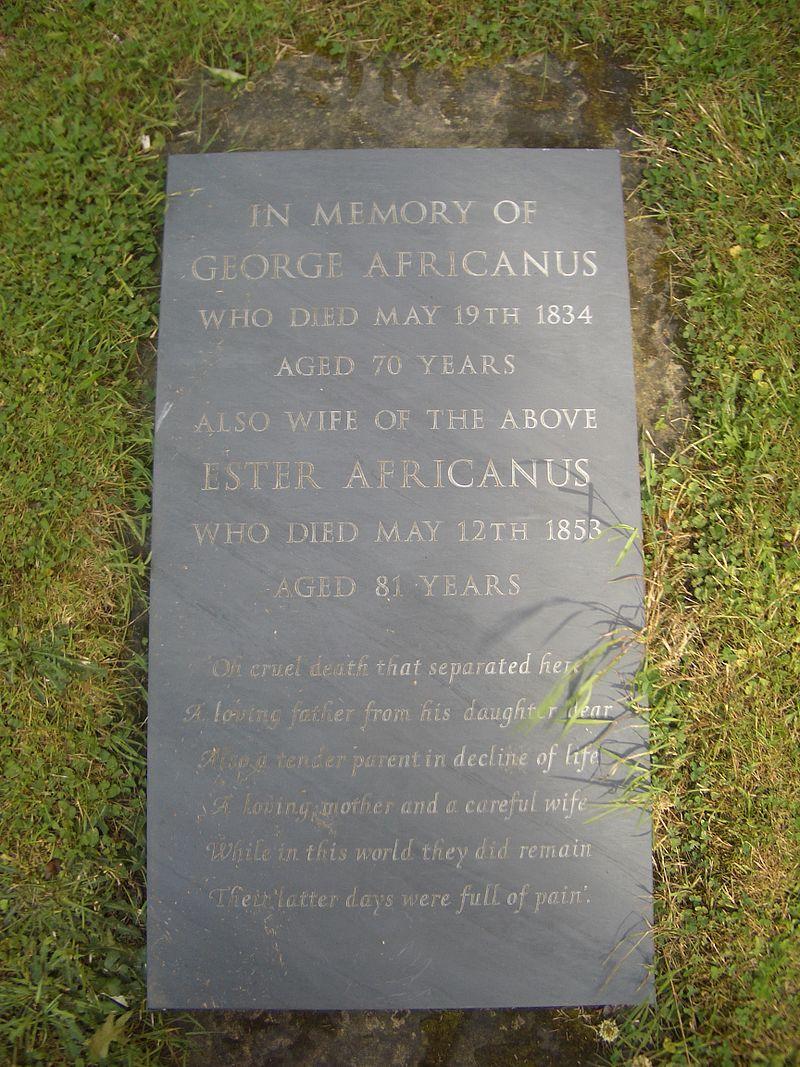 George John Africanus - Grave in Nottingham