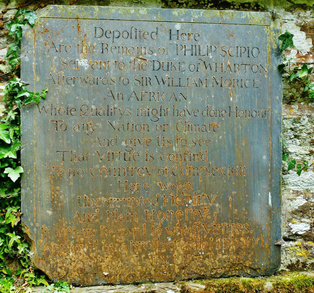 Headstone of Philip Scipio