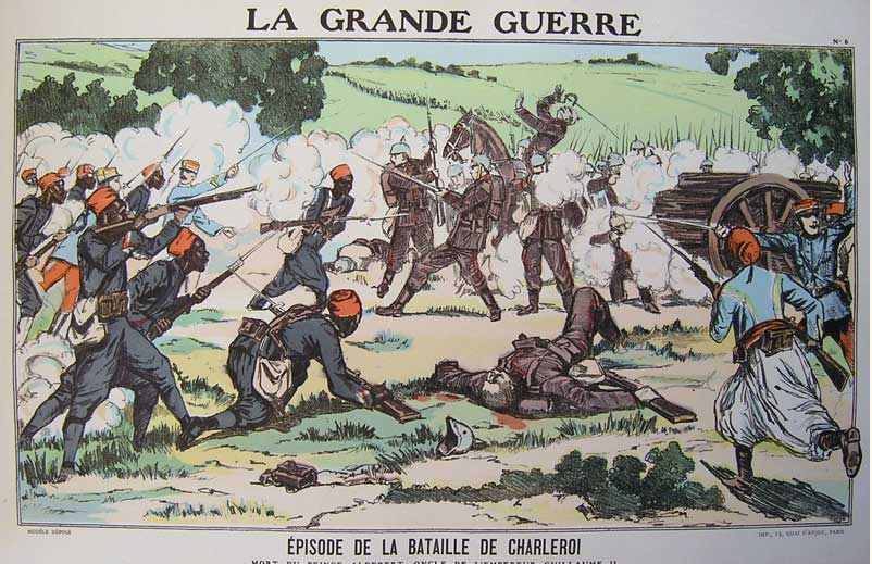 Tirailleurs Senegalais attack the German lines.
