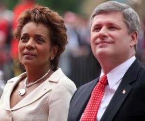 Governor General Michaelle Jean and Prime Minister Stephen Harper