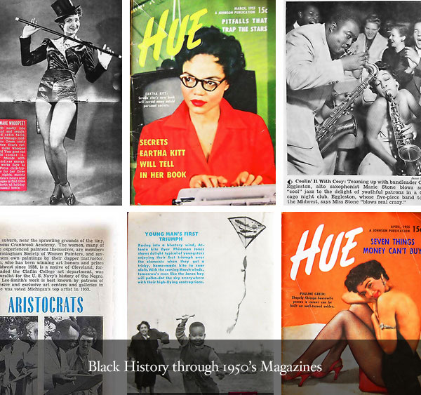 Find Black Style in Magazines from the 1950s.